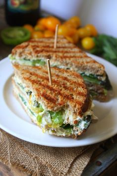 Triple-Decker Caprese Grilled Cheeze Panini #vegan