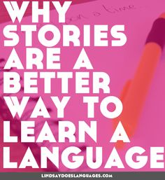 Everyone is constantly looking for a better way to learn a language. The power of stories is exactly why I've included them in my online language course. Learning Italian, Learning Spanish, English Lessons, Learn English, Online Language Courses, Learn Greek, Language Immersion, Learning Techniques, English Language Learners