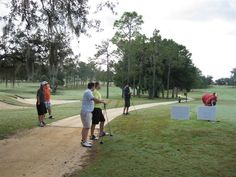"""- The tournament is in full swing with a """"reconstructed"""" golf course to challenge Ocala's best! Black Friday Golf, Tough Day, Baseball Field, Charity, Golf Courses, Challenges"""