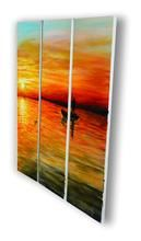 """""""Gone Fishin"""" Acrylic on Canvas Wall Nails, Wood Bars, Affordable Art, Hand Painting Art, Contemporary Art, Hand Painted, Colours, In This Moment, Sunset"""
