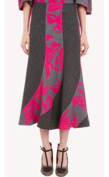 Dries Van Noten Wave-Panel Skirt
