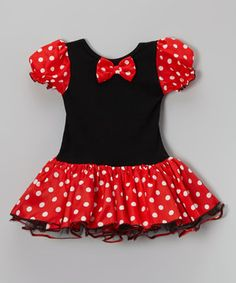 Look what I found on #zulily! Black & Red Polka Dot Skirted Leotard - Infant, Toddler & Girls by Wenchoice #zulilyfinds