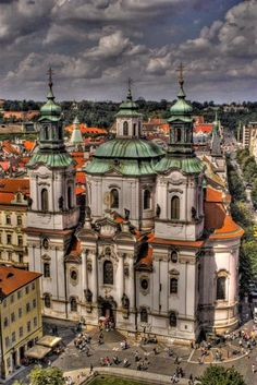 St. Nicholas Church in Prague - Sang here with the ETBU university choir. It was amazing!