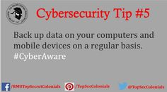 Back up data on your computers and mobile devices on a regular basis. #CyberAware