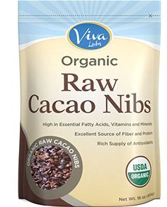 Viva Labs - The BEST Tasting Organic Raw Cacao Nibs, 1 lb Bag * Tried it! Love it! : Baking Ingredients