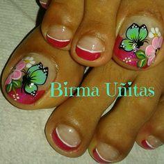 Toe Nail Art, Toe Nails, Butterfly Makeup, Nail Effects, Diva Nails, Toe Nail Designs, Pedicures, Lily, Tattoos