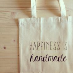 TOTE BAG Happiness is handmade