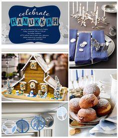 Hanukkah Inspiration Board on the Tinyprints Blog. #Hanukkah