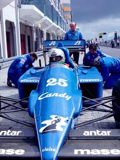 Andrea de Cesaris - 1985 - Italian GP - Equipe Ligier Gitanes JS25