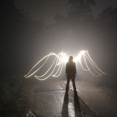 Angel wings of light. Angels Among Us, Angels And Demons, Dark Angels, Light Painting Photography, Art Photography, Conceptual Photography, Famous Photography, Jace Lightwood, Looks Dark