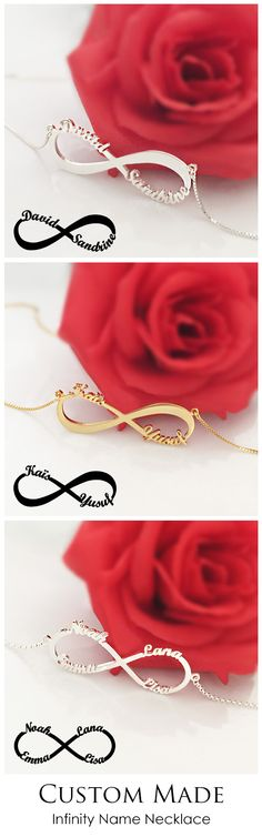 Personalized Infinity Necklace with cut out names,express I Love You Forever.Unique design just for her.Come and discover more at Getnamenecklace.com