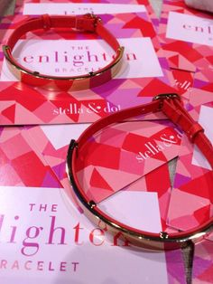 Stella and Dot NEW Enlighten Bracelet  Coral leather band and gold!  So pretty!  www.stelladot.com/sites/KaraAnn