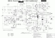 Circuit Diagram of 3000 watt power inverter 12V DC  to  230V AC