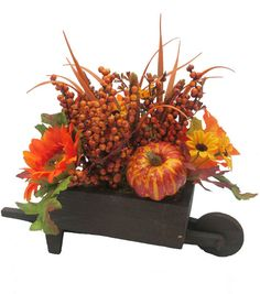 Sunflower Pumpkin  Berry Arrangement 9
