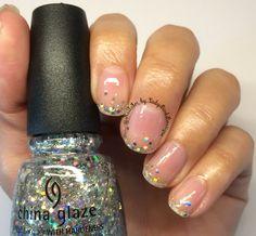 Nails, nailart, glitter nails, nail designs  Instagram photo by; @NailArt_by_LadyBirdBoutique