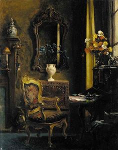 Albert Chevallier Tayler, R.A. (1862-1925)   —  Interior with a Writing Desk, 1924 (628x800)