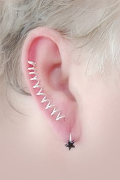 Spiral Ear Pin Pair / Choice of Wire by TheLazyLeopard on Etsy, $15.00