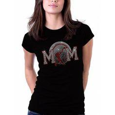 Faded Baseball Mom Rhinestone T Shirts