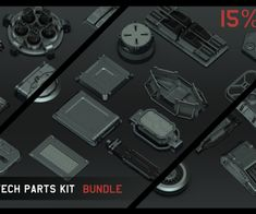 Universal Hi-tech parts kits - Complete Bundle by Alexey Pyatov Sketchup Model, Game Assets, Your Location, Quad, Packing, Tech, Iron Fist, Kit, Games