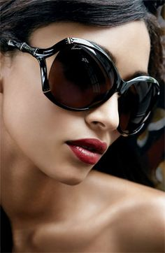 Love these faux bamboo frames from Gucci but they are too big for my face. boo!