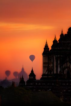 Balloons over Bagan, Myanmar.