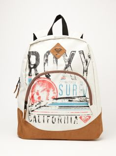 Fairness Backpack - Roxy I love this one Backpack Purse, Fashion Backpack, Roxy Backpacks, School Backpacks, Roxy Clothing, Outfits For Teens, Girl Outfits, Cute Luggage, Roxy Surf