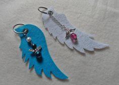 Schlüsselanhänger - Schlüsselanhänger Schutzengel Engel Engelsflügel - ein Designerstück von Kataryn2 bei DaWanda