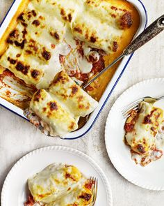 Homemade ricotta, made from Jersey milk, makes this stuffed savoury pancake recipe a certified family favourite.