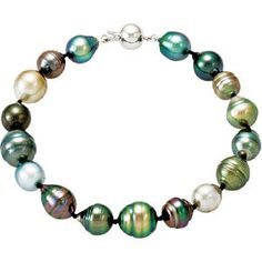 #68072, Tahitian Cultured Pearl Necklace and Bracelet Set, Nathalie's Jeweler 936-242-3498