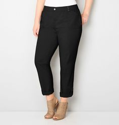 Shop classic convertible pants in sizes 14-32 like the plus size Twill Convertible Pant with Comfort Waist  available online at avenue.com. Avenue Store