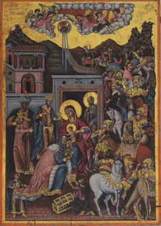 "koredzas:  "" Georgios Kastrofylakas - The Adoration of the Magi. 1746  """