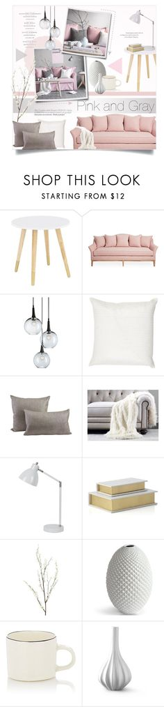 """Pink and Gray Home Decor"" by alexandrazeres ❤ liked on Polyvore featuring interior, interiors, interior design, home, home decor, interior decorating, Currey & Company, Dransfield & Ross, Jayson Home and Ethan Allen"