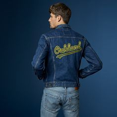 Be best dressed in the ballpark at our expanded Levi's x MLB Collection. Oakland A's fans - show up for your team in style in this Trucker Jacket. Western Shirts, Timeless Fashion, Outfit Of The Day, Nice Dresses, Menswear, Mens Fashion, Clothes For Women, Denim, With