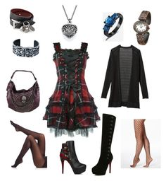 """""""Untitled #1"""" by ayekaygeemusic ❤ liked on Polyvore featuring Hell Bunny, Hue, SPANX, Alexander McQueen and Athleta"""