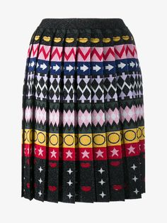 Mandy Jacquard Pleated Skirt