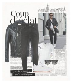"""""""Untitled #4"""" by paulaner1 ❤ liked on Polyvore featuring Dsquared2, Yves Saint Laurent, Alexander McQueen, Ray-Ban, Reebok, Bela, men's fashion and menswear"""