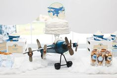Vintage Airplane/Flying High Themed Bday for a boy!