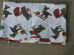 Christmas Fabric Yardage Santa's Reindeer 1-1/3 Yds