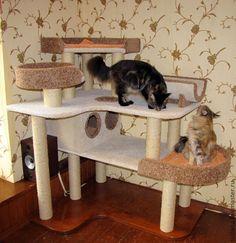 """Купить """"Раздолье"""" подходит для крупных кошек - домик для кошки, Когтеточка, когтедралка, лазалка для кошек"""