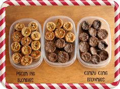 Rubbermaid TakeAlongs, Walmart, Share the Holiday, Giving the Gift of Thanks, Candy Cane Brownies, Pecan Pie Blondies, #ShareTheHoliday, #CollectiveBias, #AD @walmart