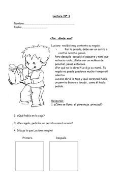 Short readings with questions. Excelentes fichas de comprension de lectura para 1o y 2o aã±o de primaria[1]