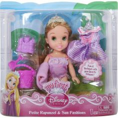 My First Disney Princess - Petite Rapunzel & Sun Fashions by Jakks. $18.00. Treat this pretty, pocket-sized Princess to some fun in the sun!. Includes the Rapunzel doll, Tiara, Sundress, Swimsuit, Towel, Pair of sandals, Pail, Shovel and sand castle form. Fun at the beach with your favorite princess!. Change her out of her charming beach dress into a stunnning swimsuit!. Makes great gift for your little princess!. This pretty, pocket-sized Princess can't wait for some fun in ...