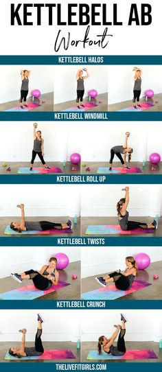 Kettlebell Ab Workout • 5 Kettlebell Ab Exercises to Strengthen your Core