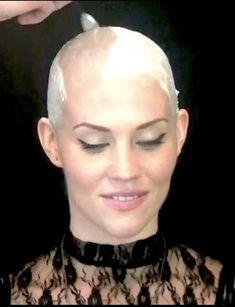 Bald Head Girl, Bald Head Women, Shaved Head Women, Shaved Heads, Shaved Hair Cuts, Half Shaved Hair, Short Hair Cuts, Short Hair Styles, Revealing Swimsuits