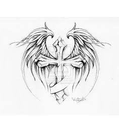 Resultado de imagen para good and evil wing tattoos for men on back