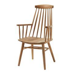 Sedia con braccioli Quimper - Legno massello di teak
