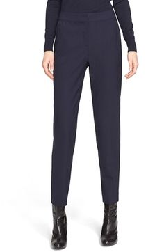 St. John Collection 'Emma' Tropical Wool Crop Pants $495.00  # #shopping #WomensClothing