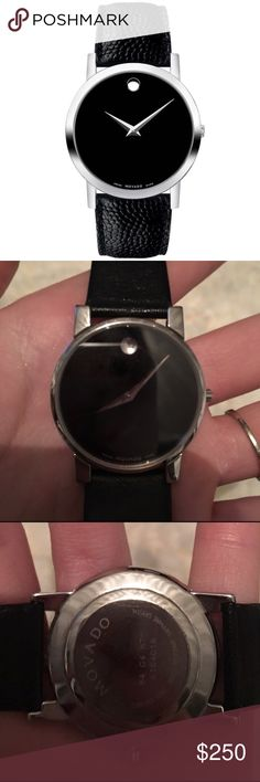Authentic Movado Men's Museum Collection Watch Verified AUTHENTIC! I bought this sort of accidentally and it's in amazing condition, I just don't need it! Fair offers will be considered! Movado Accessories Watches