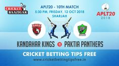 Today Cricket Baazigar Provide Match Prediction and cricket tips free Kandahar vs Paktia. All fans of cricket can also get free updates on the page www. Cricket Tips, Cricket Match, Sports Betting, Money, Gaming, Fans, Silver, Followers, Toys