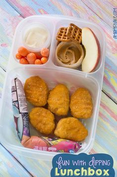 Kids love to dip! Find this themed bento lunch box and more fun + easy lunchbox … Kids love to dip! Find this themed bento lunch box and more fun + easy lunchbox ideas for kids Kids Lunch For School, Healthy Lunches For Kids, Healthy School Lunches, Toddler Lunches, School Snacks, Kids Meals, School Fun, Toddler Food, Kids Lunch Box Ideas Schools